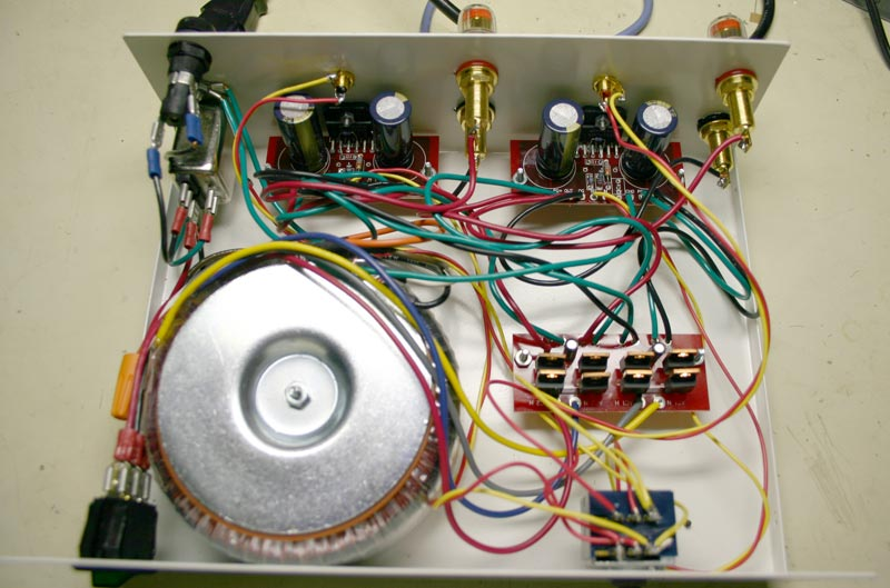 Photo of finished amplifier